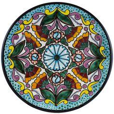 Tomas Huerta TalaveraPlate - Pattern 51 ♥️♣️♣️Talavera Mexican Pottery : More At FOSTERGINGER @ Pinterest ♣️