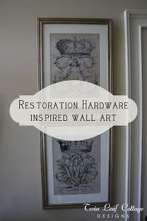 How to make your own framed wall art from any image - Twin Leaf Cottage: Restoration Hardware Inspired Wall Art Project