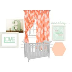 Custom Nursery Art by Kimberly: Cool Color Combo: Aqua and Coral or Mint and Peach