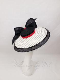 5e4e054c008 Mesh and sinamay Dior Brim. Fancy Hats