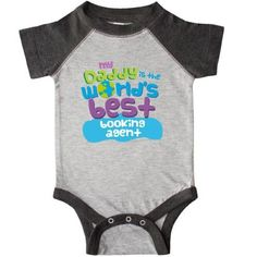 Inktastic World's Best Booking Agent Daddy Infant Creeper Baby Bodysuit Child's Kids Gift Agent's Son Childs Like My Cute Occupation Apparel Is Occupations One-piece Hws, Boy's, Size: 24 Months, Black