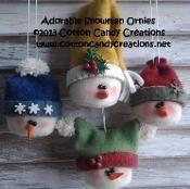 Adorable Snowmen Ornaments - via @Craftsy