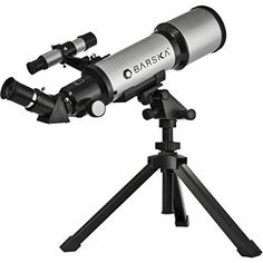 Barska AE10100 Starwatcher 40070 Compact Refractor Telescope with Table Top Tripod And Carrying Case (Silver) - $75