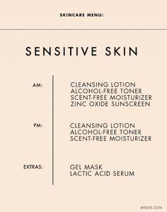 The+Ultimate+Daily+Skincare+Menu+for+Every+Skin+Type+via+@byrdiebeauty: