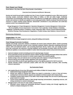 It Project Manager Resume construction project manager resume Construction Coordinator Or Project Manager Resume Template Premium Resume Samples Example