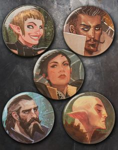 DAI Character Buttons Pack #2; Form your ultimate Inquisition party with these Dragon Age pins! Pack #2 Includes: Cassandra, Sera, Dorian, Blackwall, and Solas. $5.99