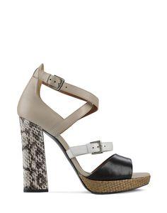 Barbara Bui tricolored sandals - Summer 2012