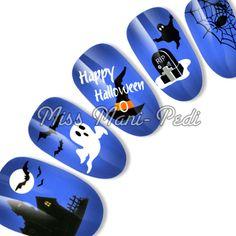 Halloween water slide decals code: K189. Available from www.missmanipedinailart.com