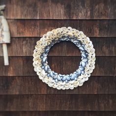 Ocean Wreath - Oyster Shell Wreath- Seashell Wreaths - Coastal Decor Ideas - Beach Decor Wreath - Out Door Wreath - Front Door Wreath by CoastalCornucopia on Etsy https://www.etsy.com/listing/491078722/ocean-wreath-oyster-shell-wreath