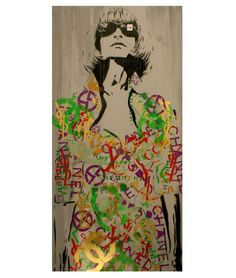 ANNA WINTOUR Wood Vrsn Vogue Graffiti Pop Art by MrMahaffey, $59.00