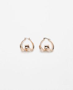 Image 1 of TWISTED HOOP EARRINGS from Zara