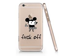 """""""Fuck Off"""" Mouse Text Quote Plastic Phone Case Phone Cove..."""