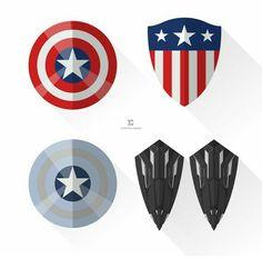 Captain America different shields