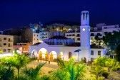 chruch in Los Cristianos at night
