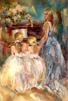 Anna Razumovskaya///OurWNbryhouse...just dress us up and this would the 3 of us...just us girls...missing daddy of course xo