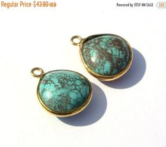 55% OFF SALE 22Kt Gold Vermeil  2Pcs by GemsAndBeadsEmporium