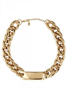 027714b3fc5 KOOVS Link Collar Necklace Neck Piece