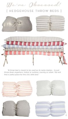 In our Atlanta market post, we told you about a new product/idea that we LOVED and had to share with you: Hedgehouse Throw Beds. These down/fiber fill cushions with washable slipcovers are about the size of a twin bed, and are SO versatile. Movie nights, deck parties, playrooms.. you could really use them for …