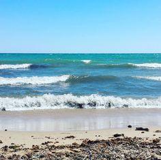 I avui la #platja de #Cambrils està així: