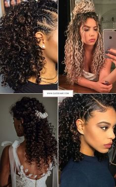 Sensational Hairstyles for Ladies Cute Curly Hairstyles, Curly Hair Tips, Braided Hairstyles, Wedding Hairstyles, Curly Hair Styles, Natural Hair Styles, Hair Inspo, Hair Inspiration, How To Make Hair
