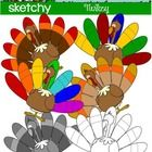 Turkey / Thanksgiving Holiday Clip art / Graphic FREEBIE  Included are 4 Color, 1 Grayscale, and 1 Black Lined, PNG/Transparent Clipart.  6 Items Total.  To See My Holiday/Seasonal Clipart: Holiday/Seasonal   To See Another Thanksgiving Freebie: Thanksgiving Freebie   To See Some of My Other Clipart Please Visit My Store: A Sketchy Guy Store   Each item has a transparent background.   High quality 300dpi.