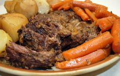 Slow Cooker Pot Roast - after slow cooking, portion this, then freeze