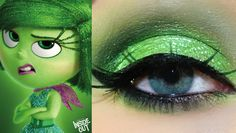 PIXAR�S Inside Out: Disgust Inspired Makeup Tutorial