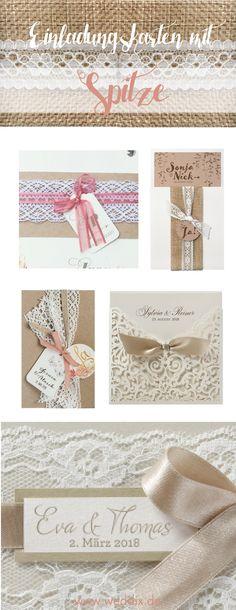 Romantisch, Verträumt, Verliebt: Ein Traum In Spitze Sind Unsere Lieblings  Einladungskarten Zur Hochzeit. #hochzeit #wedding #hochzeitseinladung ...