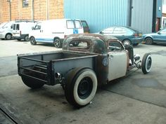 rear view of volksrod truck