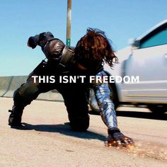 """""""This isn't freedom; this is fear."""" Captain America: Winter Soldier"""