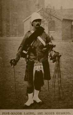 Boer War, Pipe Major Laing 1st Scots Guards