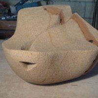 Hollington Sandstone Abstract Garden sculpture by James Bayliss titled: 'Wave'