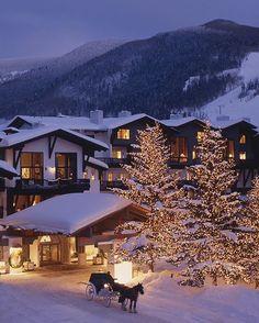 Vail Colorado winter wonderland at @lodgeatvail, A RockResort