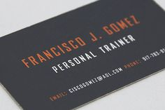 Personal Trainer business card by Christian Arichabala, via Flickr