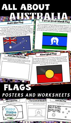 Australian Flags Posters and Worksheets Aboriginal Art For Kids, Aboriginal Education, Aboriginal Culture, Classroom Teacher, Primary Classroom, Classroom Activities, Book Activities, Middle School Literature, Naidoc Week