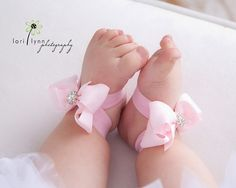 Sabrina - Baby Sandals - Barefoot Sandals - Pink Baby Shoes -