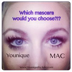 #Younique #3D Fiber Lash #mascara vs #MAC....which would you choose! Order your new fave mascara today www.youniquebyjulie.com