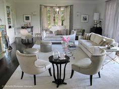 Jennifer Lopez Living room - featured in Veranda Magazine Interior design by Michelle Workman