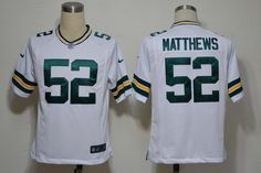 Nike NFL Jerseys Green Bay Packers Clay Matthews #52 White