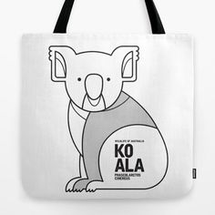 Koala // Tote Bag // This is part of a Wildlife of Australia series which also includes Kangaroo, Wombat, Emu and Platypus // Nursery Animal, Australian Art Print, Australian Animal, Animal Fashion, Australian Wildlife, Animals Nursery, Wombat Illustration, Retro Animal, Mid-century Animal, Animal Illustration, Australian Art, Quirky Tote Bag, Australian Kids Poster, Kids Art Print, Nursery Art Print, Apparel, Fashion wear, Animal Bag, Minimalism
