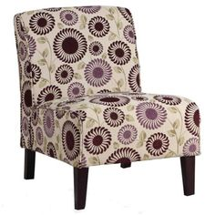"""RC Willey - 22"""" Pattern Upholstered Accent Chair"""