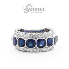 Sapphires make this ring go round! // @gfinejewelry