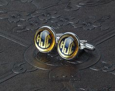 Personalized Cufflinks - with Monogram from mozzin by DaWanda.com