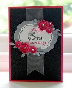 Julie's Japes - A Top Independent Stampin' Up! Demonstrator in the UK: Anniversary Wishes