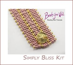 Designer Kits for all levels of beaders! Blush Color, Needle And Thread, Bead Weaving, Step By Step Instructions, Jewelry Crafts, Bliss, Beaded Bracelets, Romantic, Kit