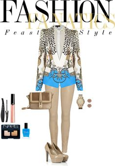 """""""BLUE ."""" by mimiahmed ❤ liked on Polyvore"""