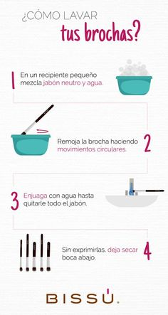 How to wash your brushes - make up - Maquillaje Makeup Tools, Makeup Brushes, Eye Makeup, Fast Makeup, Makeup News, Makeup Tricks, Glam Makeup, Makeup Products, Beauty Make-up