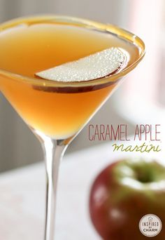 Caramel Apple Martini....I will be drinking this when I carve my pumpkin this year....Cheers~