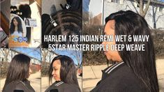 FULL SEW IN W/ HARLEM 125 5 STAR MASTER WET & WAVY INDIAN REMI - RIPPLE ...