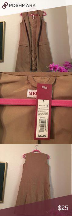 Merona women's Female Blazer👍 Blazer outerwear long long sleeveless Blazer brown Merona Jackets & Coats Blazers